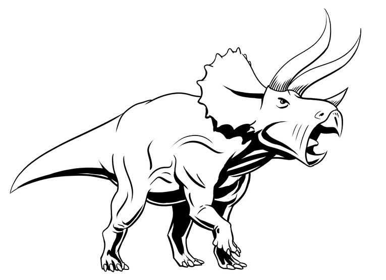 Drawing triceratops - spotted blacks