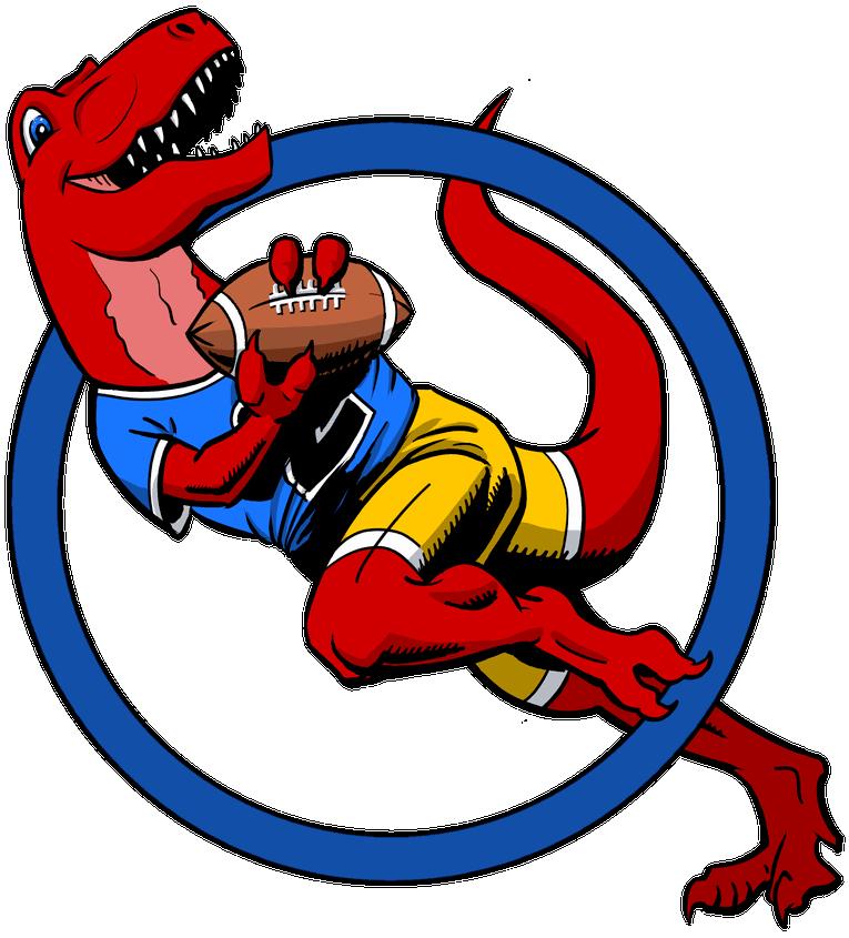 T-Rex playing American football
