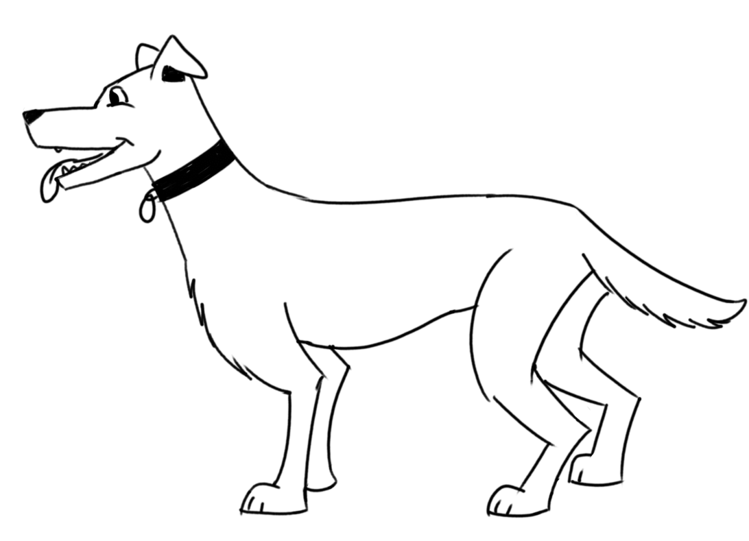 How to draw a dog for beginners - outline