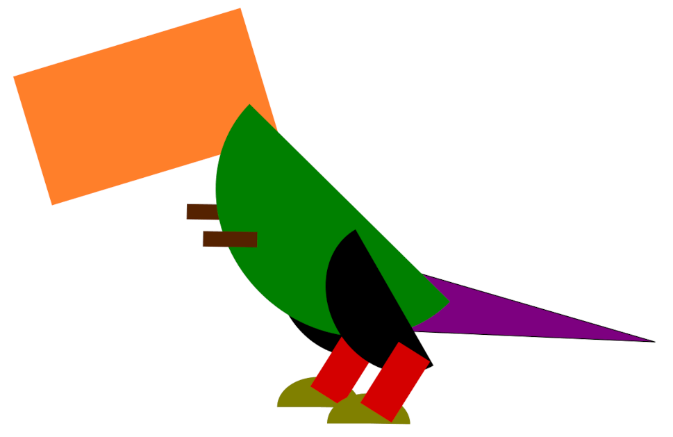 Cartoon T-Rex duplicate the arm and leg