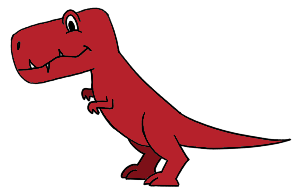 How to draw a T-Rex for beginners - color